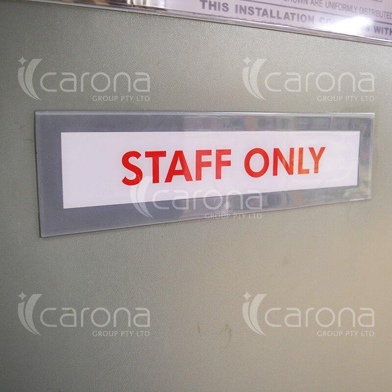 Industrial Door Signage | Carona Group