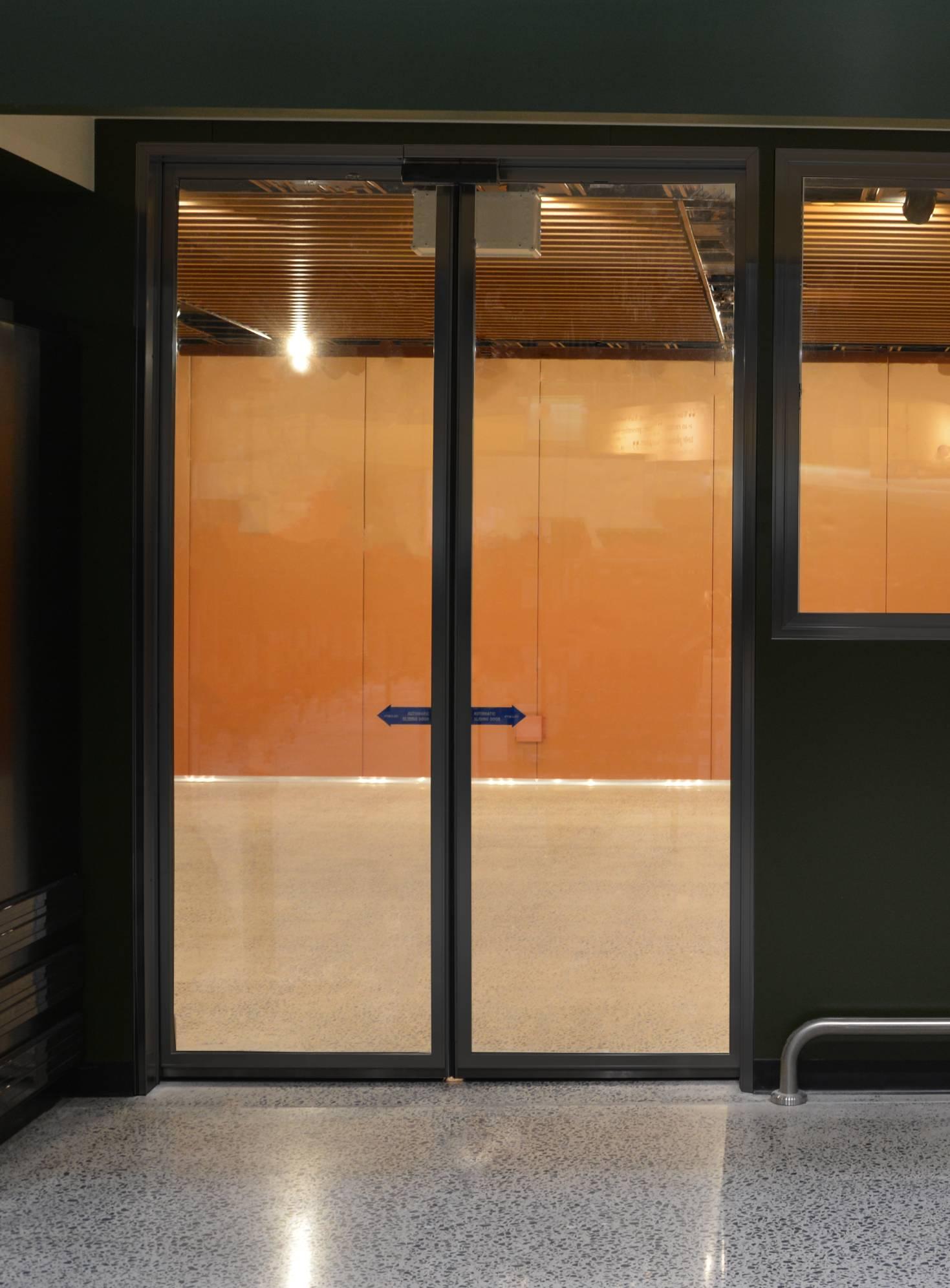 Black Anodised Glass Door