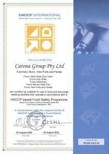 carona group certificate
